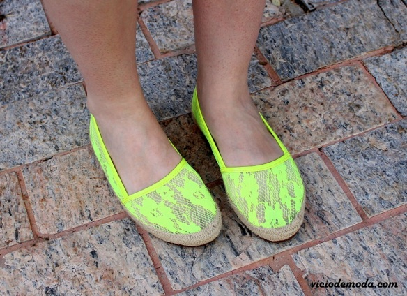 Alpargatas de renda neon