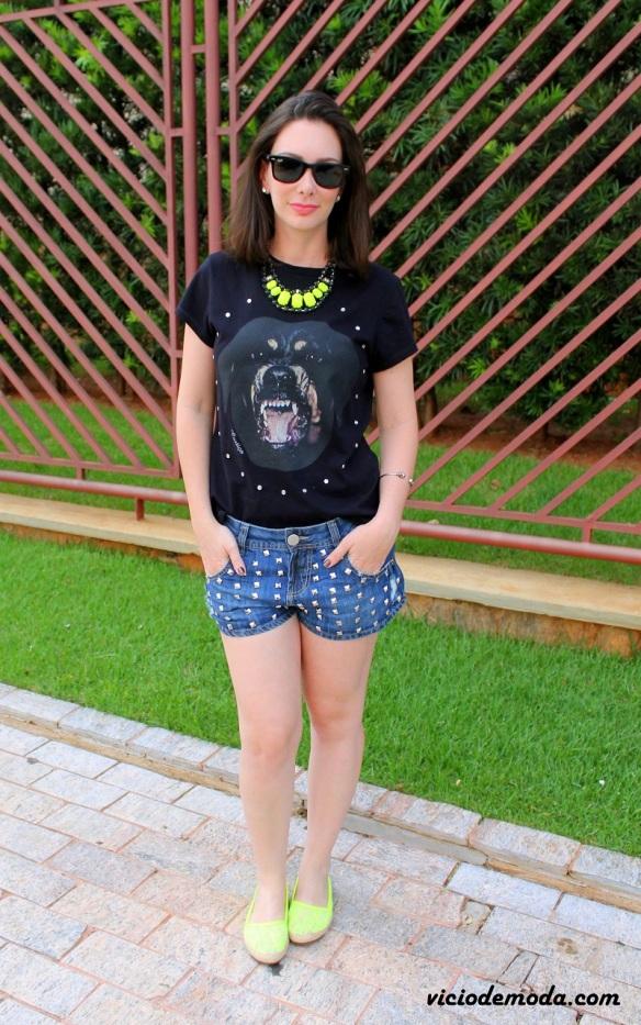 Camiseta rottweiler Givenchy inspired e alpargata neon 1