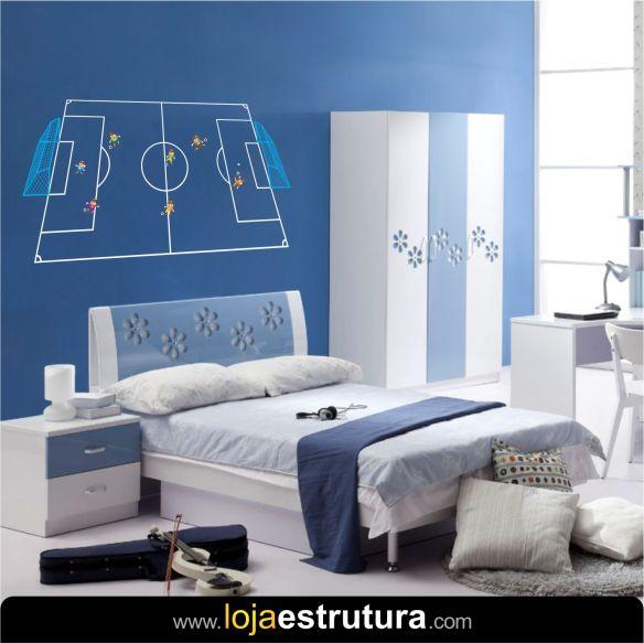 Adesivo de parede campo de futebol 4