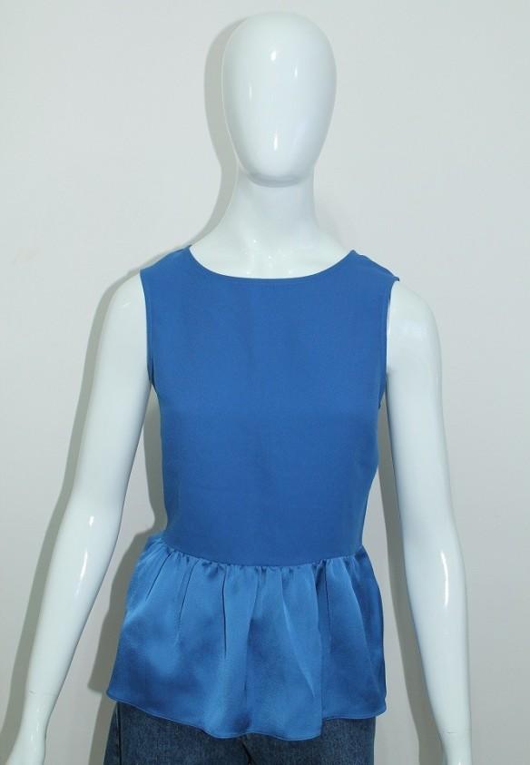 Blusa peplum azul royal